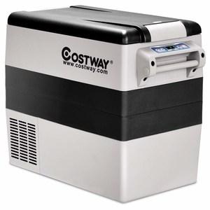 Costway 54 Quart Portable Refrigerator Freezer Compact Car Mini Fridge