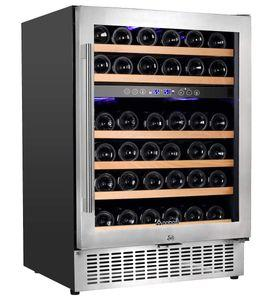Aobosi Dual Zone Steel Wine and Beverage Cooler
